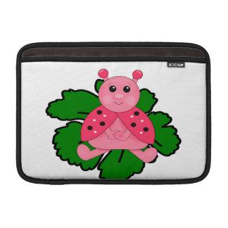 Rosa Marienkäfer MacBook Sleeve
