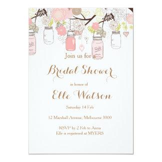 Rosa Maurer-Glas-Brautparty-Einladung 12,7 X 17,8 Cm Einladungskarte