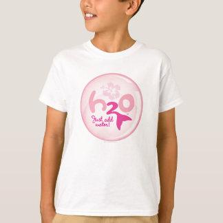 Rosa Meerjungfrau-Muster T-Shirt