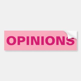 Rosa Meinungen Autoaufkleber