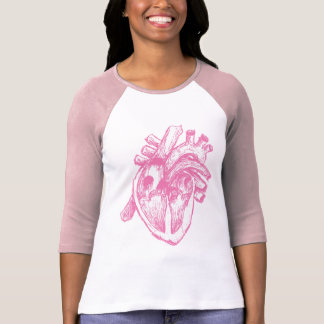 Rosa menschliches Herz T-Shirt
