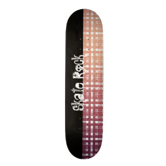 Rosa modernes kariertes mit Shine-Blick 19,1 Cm Old School Skateboard Deck