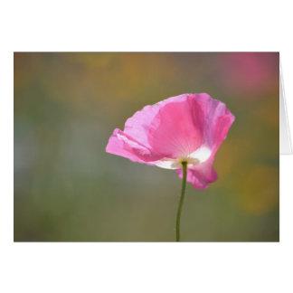 Rosa Mohnblumen-Blume Karte