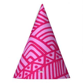 rosa Muster Partyhütchen