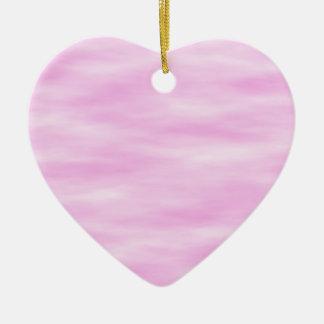 Rosa Muster. Weiche Wellen, Wolken Keramik Herz-Ornament