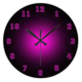"Rosa Neon 10,75"" Uhren"