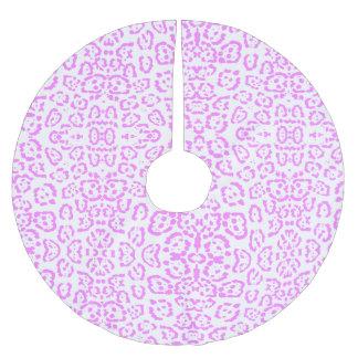 Rosa NeonGepard-Tierdruck Polyester Weihnachtsbaumdecke