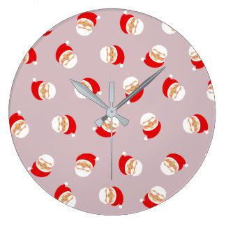 Rosa niedliches Weihnachtsschönes Girly Muster Große Wanduhr