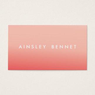 Rosa Ombre Aquarell-Visitenkarten Visitenkarten