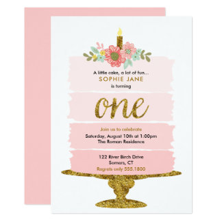 Rosa Ombre Kuchen-erste Karte