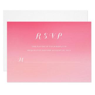 Rosa Ombre Watercolor-Hochzeits-Wartekarte UAWG 8,9 X 12,7 Cm Einladungskarte