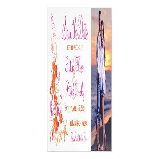 Rosa, orange tropischer Strand-Save the Date Magnetische Karte