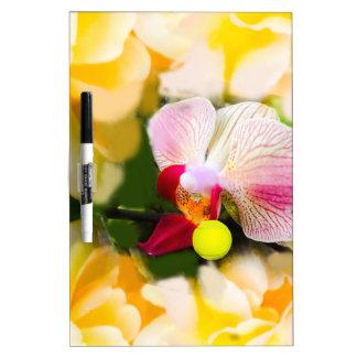 Rosa Orchidee mit Tennisball Memoboard