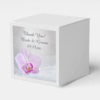 Rosa Orchidee und weiße Brautschleier-Hochzeit Geschenkschachtel