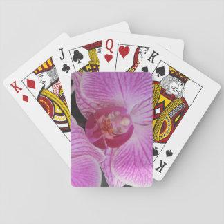 Rosa Orchideen-Spielkarten mit Blumen Spielkarten