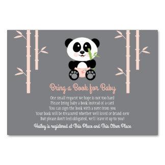 ROSA PANDA-BABYPARTY-BUCH-ANTRAG-KARTE KARTE