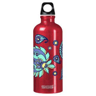 Rosa Pastell-Paisley-Aluminium Aluminiumwasserflaschen