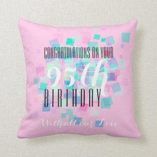 Rosa Pastellfarb95. Geburtstags-Gewohnheits-Kissen Kissen