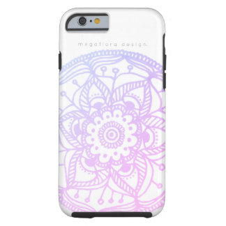 Rosa PastellMandala-Kasten durch Megaflora Entwurf Tough iPhone 6 Hülle