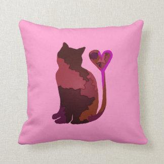 Rosa Patchwork-Camouflagekitty-Katze Kissen
