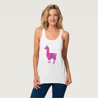 Rosa PelzTrägershirt der lama-Damen-Flowy Tank Top