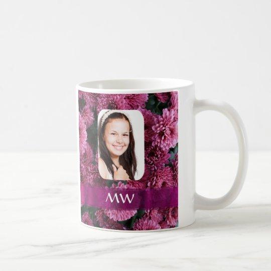 Rosa personalisiertes mit BlumenFoto Kaffeetasse