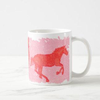 Rosa Pferde Kaffeetasse