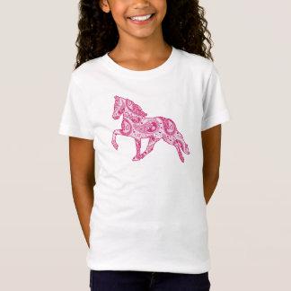 Rosa Pferdebabydoll-Shirt Paisleys Gaited T-Shirt