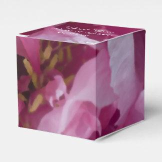 Rosa Pfingstrosen-Blumen-Hochzeit Geschenkschachteln