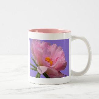 Rosa Pfingstrosen-Tasse Zweifarbige Tasse