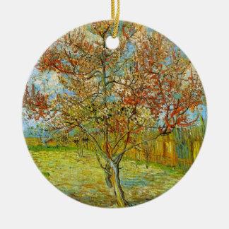 Rosa Pfirsich-Baum Van Gogh in der Blüte, schöne Keramik Ornament