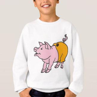 Rosa Piggy in den orange Hosen Sweatshirt