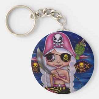 Rosa Piraten-Fee Schlüsselanhänger