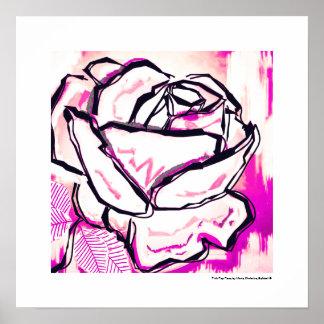 Rosa Pop-Rose - der Tag Poster