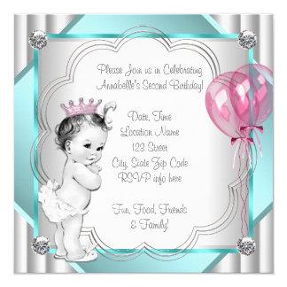 Rosa Prinzessin 2. Geburtstag Einladungskarte