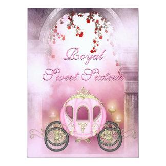 Rosa Prinzessin Carriage Enchanted Sweet 16 16,5 X 22,2 Cm Einladungskarte