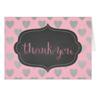 Rosa Prinzessin danken Ihnen zu kardieren Karte