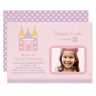 Rosa Prinzessin der Foto-Geburtstags-Party Karte