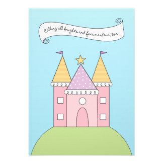Rosa Prinzessin der Geburtstags-Einladungs- Personalisierte Einladungen