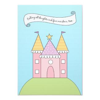 Rosa Prinzessin der Geburtstags-Einladungs-| 12,7 X 17,8 Cm Einladungskarte