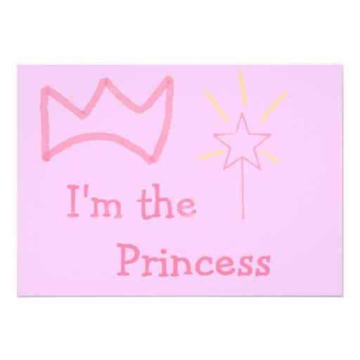Rosa Prinzessin Personalisierte Ankündigung