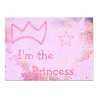 Rosa Prinzessin Individuelle Einladungen