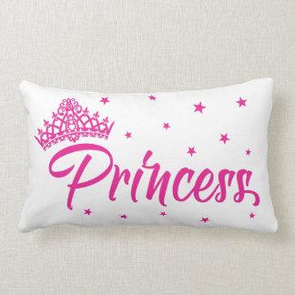 Rosa Prinzessinkissen mit herrlicher Tiara, Sterne Lendenkissen