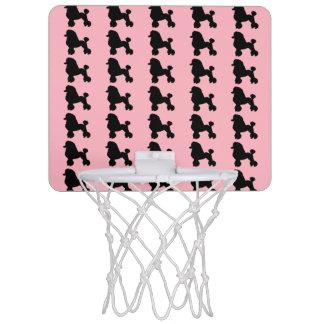 Rosa Pudel-Rock-inspiriertes Minibasketball-Band Mini Basketball Netz