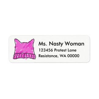 Rosa Pussy-Hut-Aufkleber