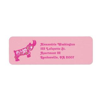 Rosa Pygmäenziegen-Rücksendeadressen-Aufkleber Rücksendeetikett