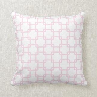 Rosa quadratische Verbindungs-Wurfs-Kissen Kissen