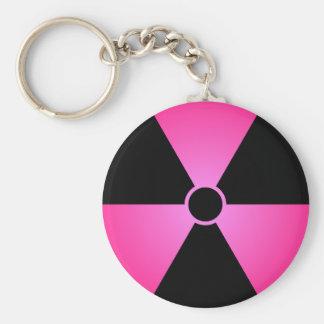 Rosa Radiaton Symbol Schlüsselanhänger
