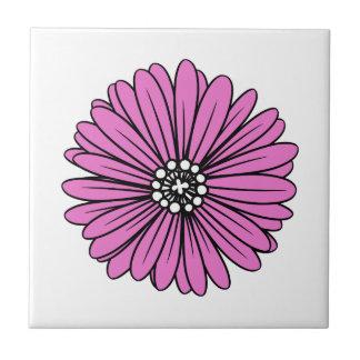 Rosa Retro bunte moderne Blume Kleine Quadratische Fliese