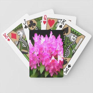 Rosa Rhododendron Bicycle Spielkarten